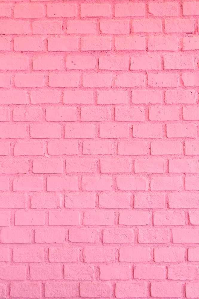 pink stucco brick wall