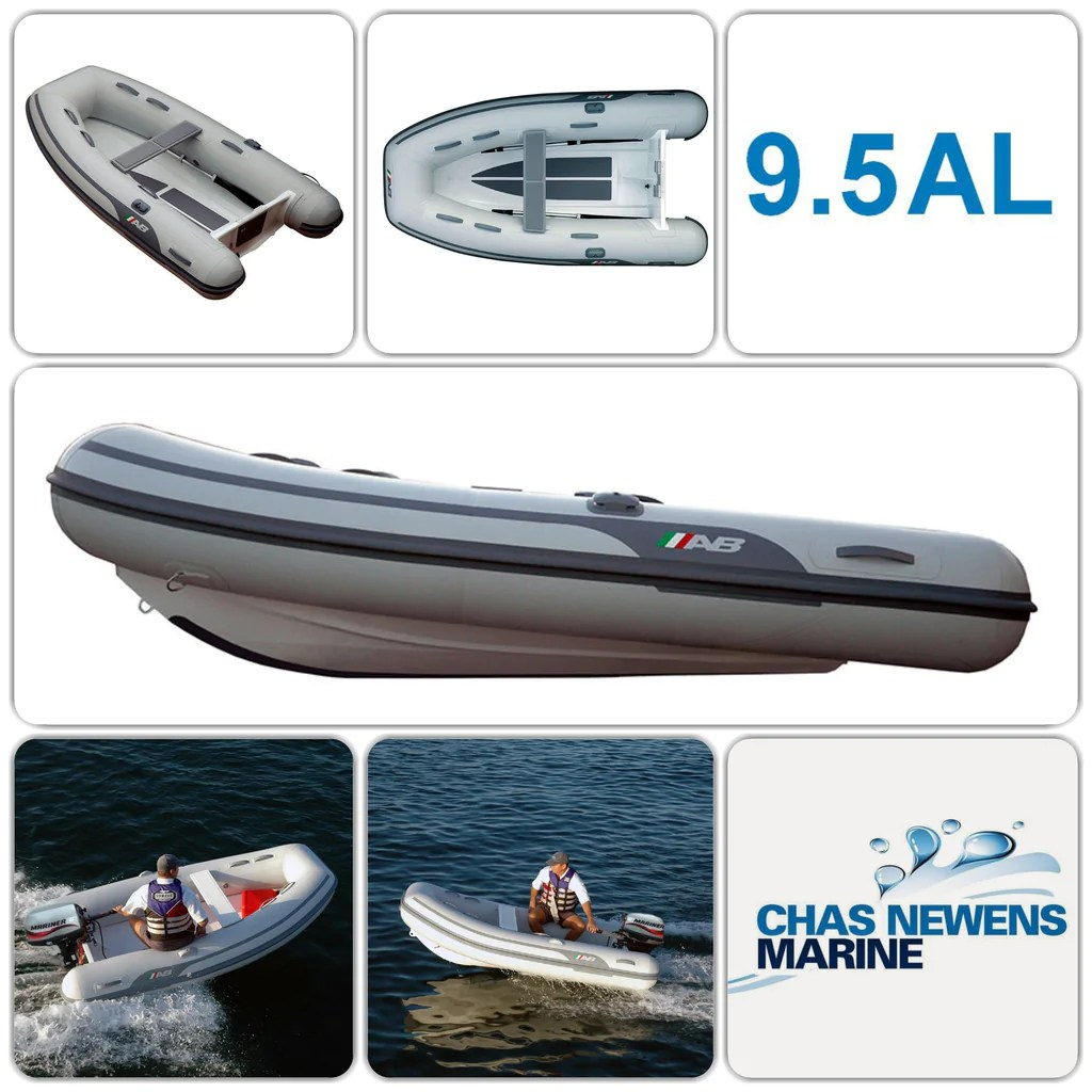 medium resolution of ab inflatables lammina 9 5 al 9 5ft rib dinghy with mariner 6 hp engine without