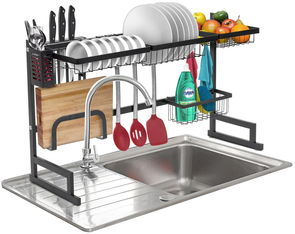 over the sink dish drying rack sorbus