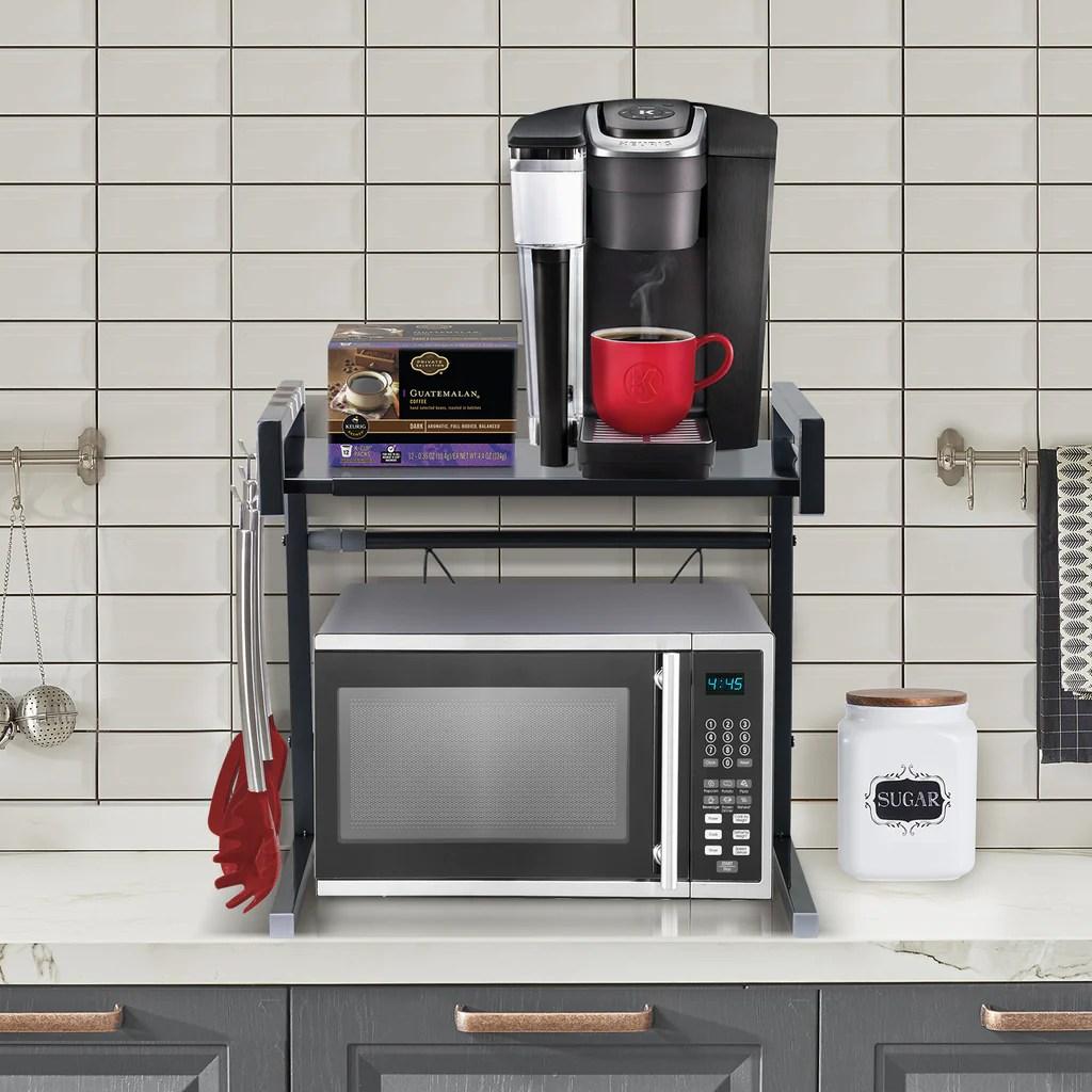 expandable microwave shelf stand