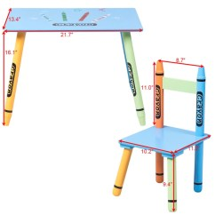 3 Piece Table And Chair Set Dining Room Chairs Kids Crayon Sauk Central