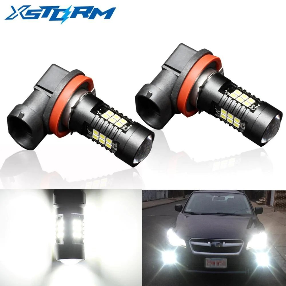 2pcs h8 h11 led hb4 9006 hb3 9005 fog lights bulb 1200lm 6000k white car driving [ 1000 x 1000 Pixel ]