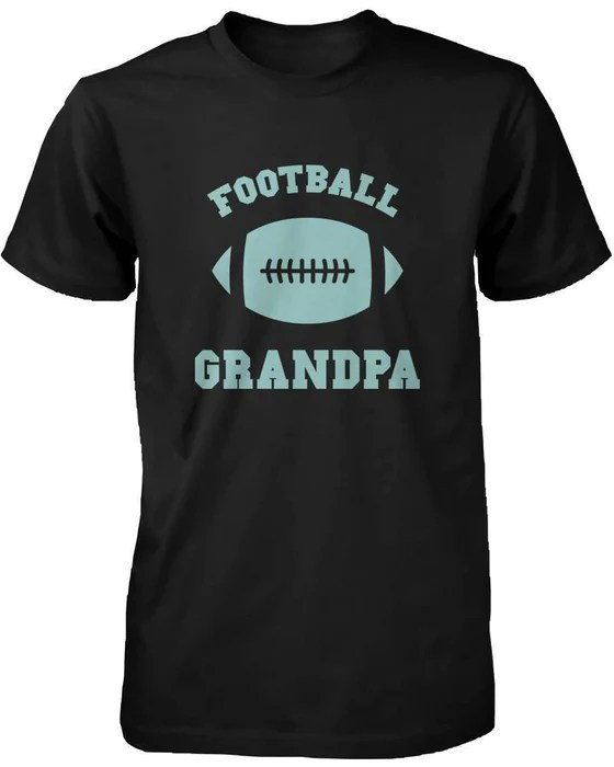 football grandpa graphic shirts