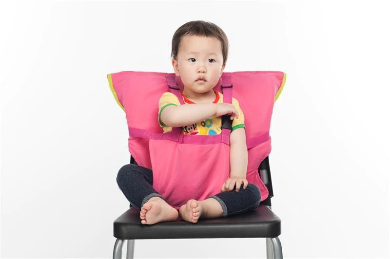 chair for baby black leather slipper portable seat kids feeding child infant safety belt booster high