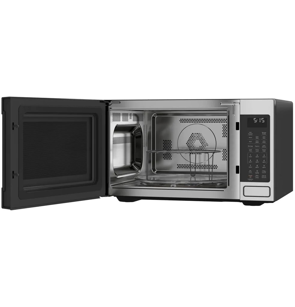 Ge Cafe Ceb515p2mcss 1 5 Cu Ft Smart Countertop Convection Microwave Topchoice Electronics