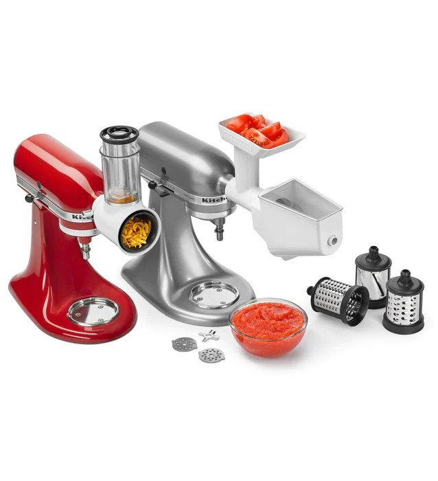 kitchen aid grinder types of sinks kitchenaid ksmfppa slicer shredder strainer attachment pack attachments topchoice electronics