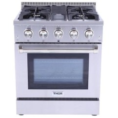 Kitchen Ranges Gas Countertop Types Thor 30 Inch Professional Range Hrg3080u Topchoice
