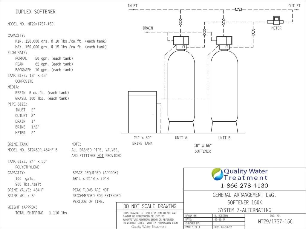 fleck 2900nxt duplex commercial water softener  [ 1024 x 768 Pixel ]