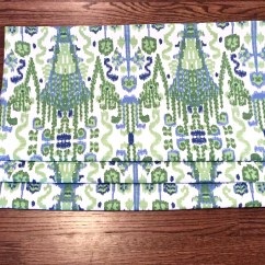 Blue Kitchen Valance Cabinet Decor Faux Roman Shades Green Quick Ship Lacefield Bombay Kelly Flat