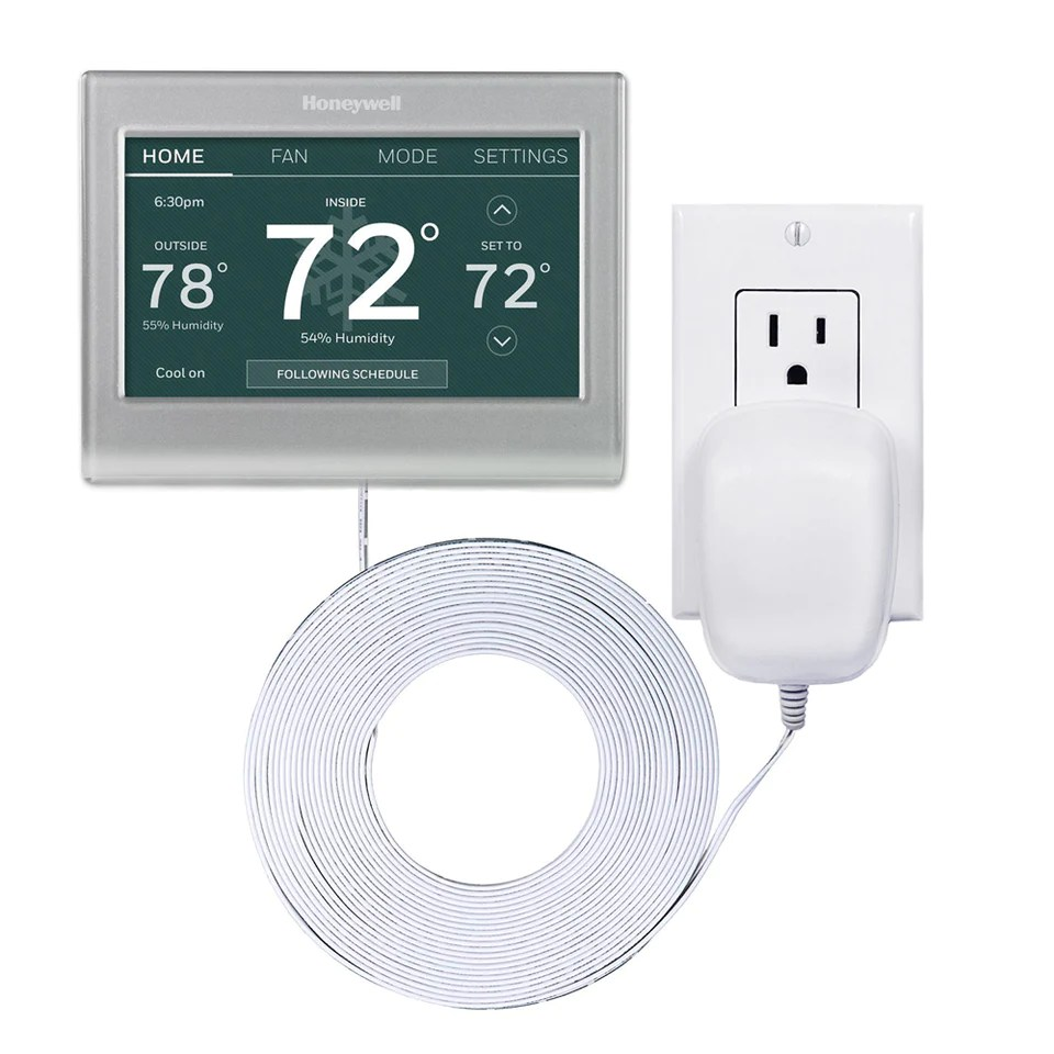 24 volt c wire power adapter transformer for wifi smart thermostats and doorbells  [ 960 x 960 Pixel ]