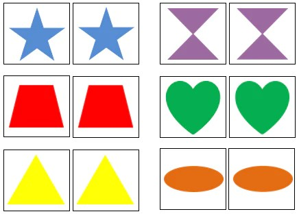 shape color matching cards