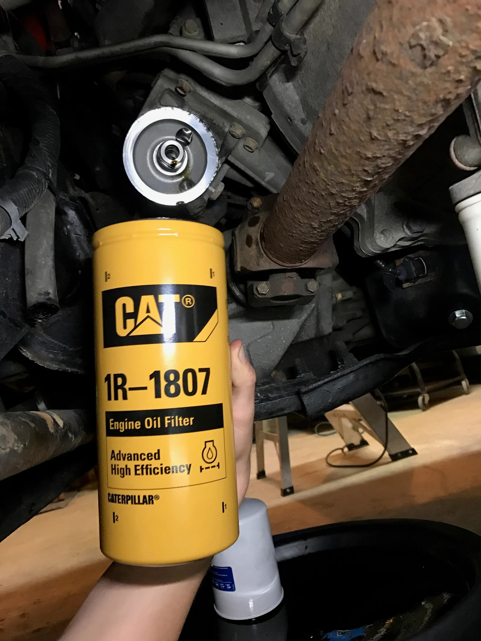 duramax cat oil filter conversion kit  [ 1200 x 1600 Pixel ]