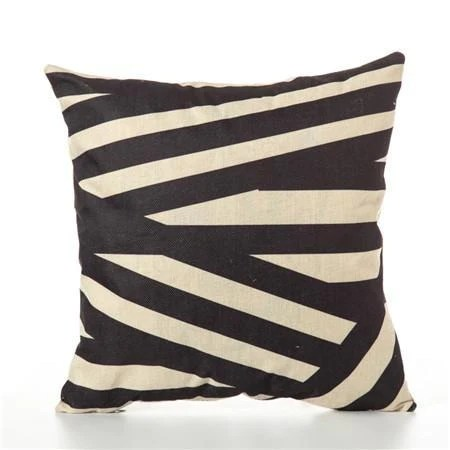 geometric cushion covers black and beige throw pillow covers