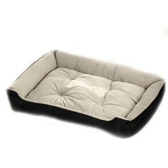 Big Dog Sofa Bed 2 Seater Leather Brown Large House Kennel Washable Winter Warm Fleece Golden Retriever Pitbull Pet