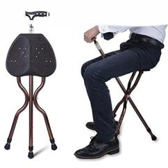 Walking Cane Chair Hanging With Stand G M Adjustable Folding Stool Massage Stick Seat Portable Fishing Rest