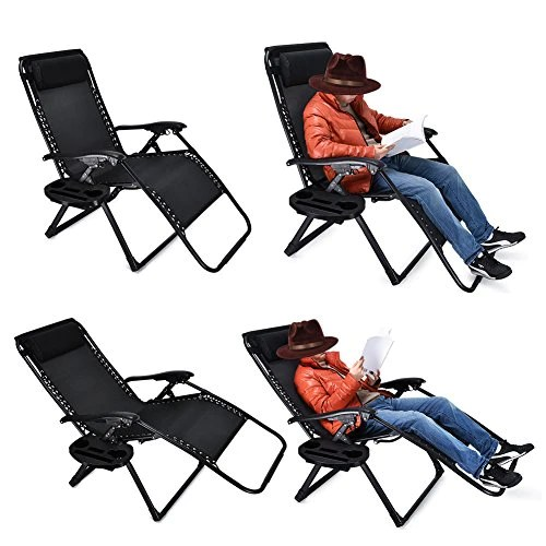 zero gravity chair 2 pack gold covers amazon oversized ezcheer supports up to 430lbs patio lounge