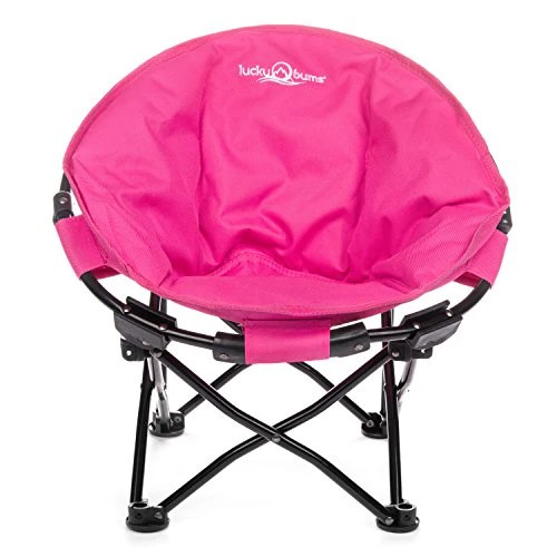 lucky bums camp chair velvet tufted moon indoor outdoor comfort lightweight durable with carrying case large