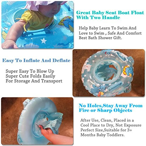 baby blow up ring chair covers argos inflatable pool float bath seat swimming for kids toddler safety swim floaties with