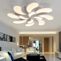 Living Room Ceiling Lights Modern Contemporary Rooms Ideas Flower Acrylic Led Light Lamps Bedroom Lamparas Lighting For Home Indoor