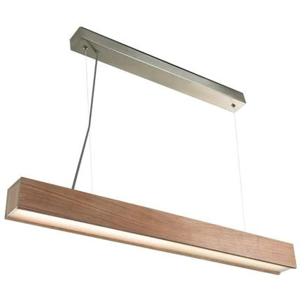 hanging light fixtures living room display iwhd nordic style wood led pendant modern lights strip lampara cuboid