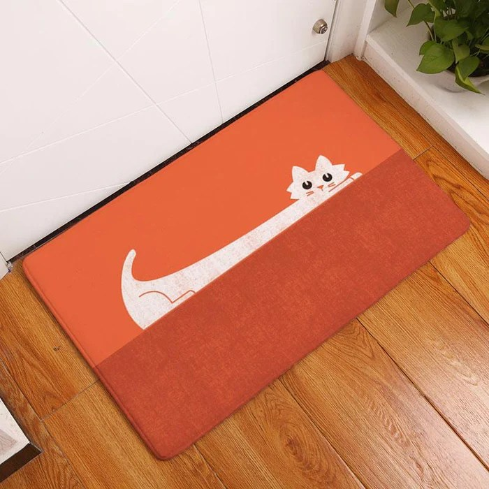 kitchen carpets stools for island monily anti slip waterproof floor mat cute cartoon cat rugs bedroom decorative stair