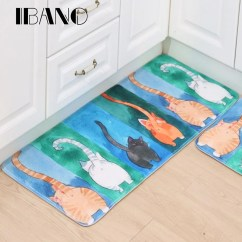 Kitchen Carpets Remodeling Projects New Anti Slip Pet Cat Print Mats Bathroom Floor Rugs 40x60cm 50x80cm 60x90cm
