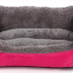 Soft Sofa Dog Bed Cushion Foam Types Pet Beds Waterproof Bottom Fleece Warm Cat House Nest Baskets Fall