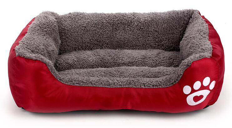 soft sofa dog bed queen size beds nz pet waterproof bottom fleece warm cat house nest baskets fall
