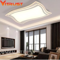 Ceiling Lights For Living Rooms Traditional Room Interior Design Ideas Plafonniers Pour Le Salon Modern Led Lamps Indoor Thin Lightings Fixture