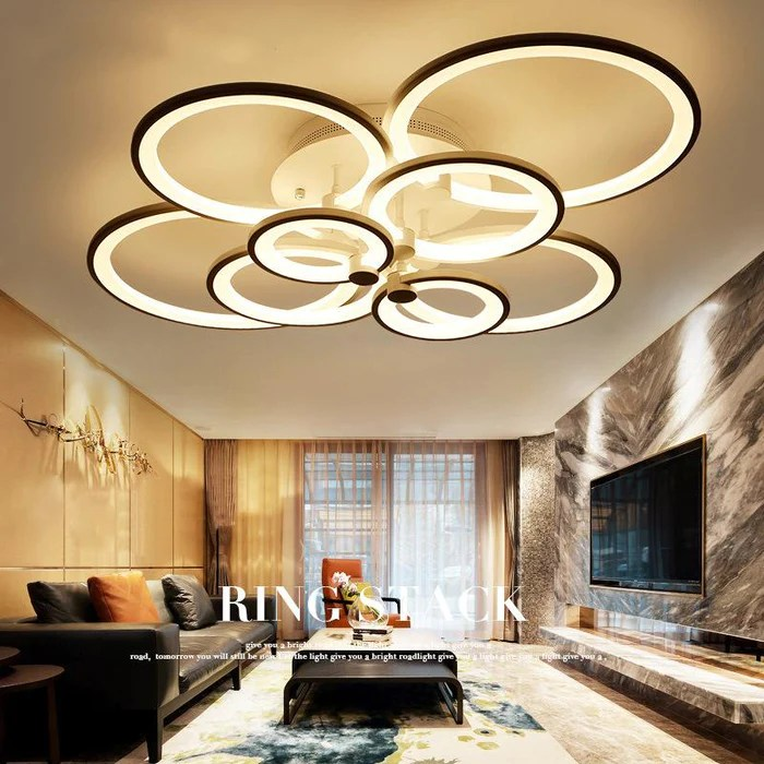 led ceiling light living room walmart remote control bedroom modern lights luminarias para sala dimming