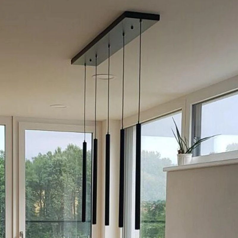kitchen lamp wall cabinets with glass doors set of 5 lukloy pendant lights modern dining room counter shop pipe down
