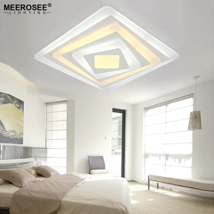 led ceiling light living room acrylic side tables square fixture bedroom decorative lamp kitchen lighting super