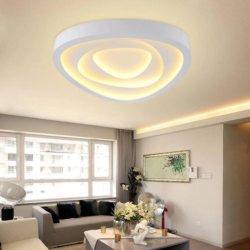 led lighting for living room end tables big lots surface mounted ceiling lights light modern lamp indoor fixtures home decorative