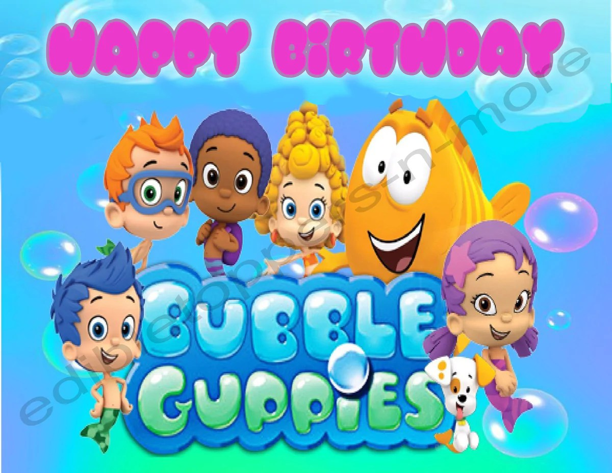 Printed Bubble Guppies Characters - Year of Clean Water