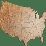 Cork Map Of The United States Large Size Geo 101 Design Geo 101 Design