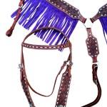 Western Headstall Breast Collar Set Purple Fringe Tooled Leather Horse Saddle Online Shop