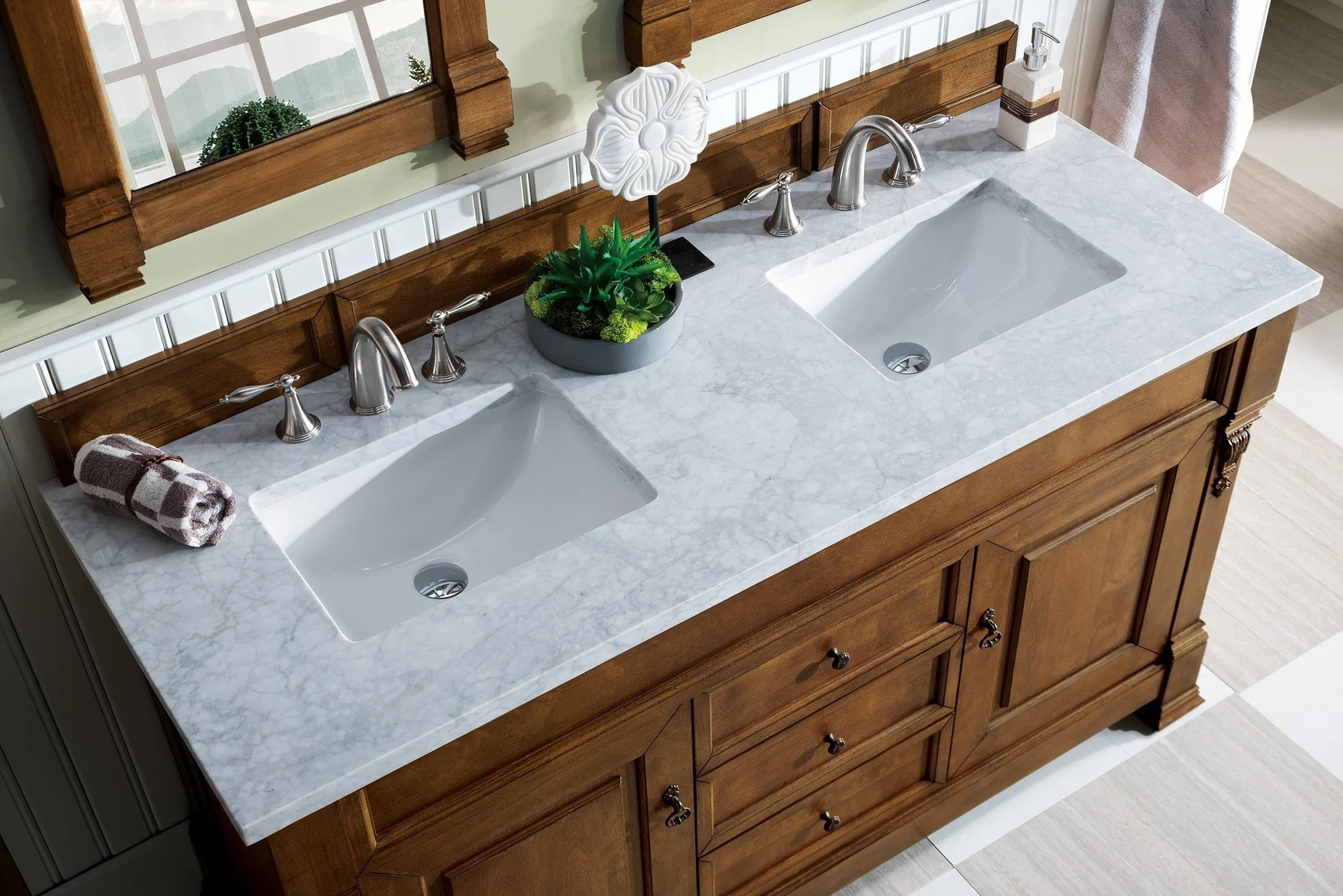 brookfield 60 double bathroom vanity