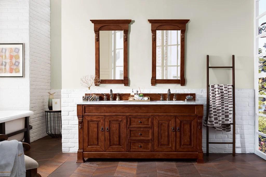 Brookfield 72 Double Bathroom Vanity Warm Cherry