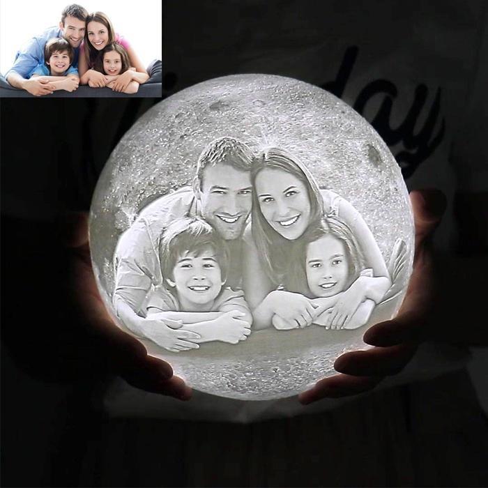 Mond Lampe mit eigenem Foto   yefa.de