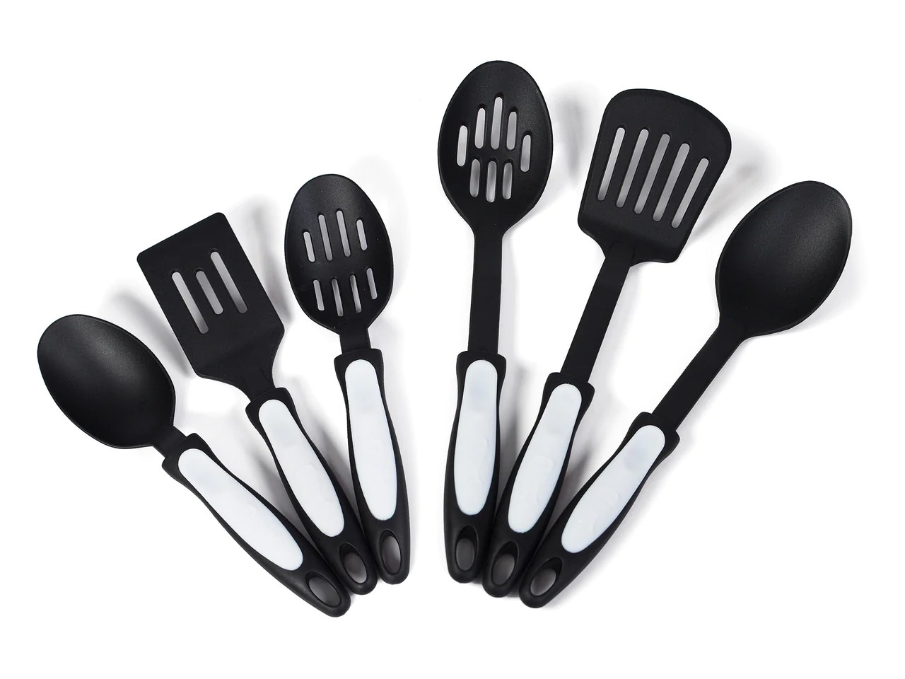 kitchen tool coastal decor 6 piece nylon set xtrema pure ceramic cookware