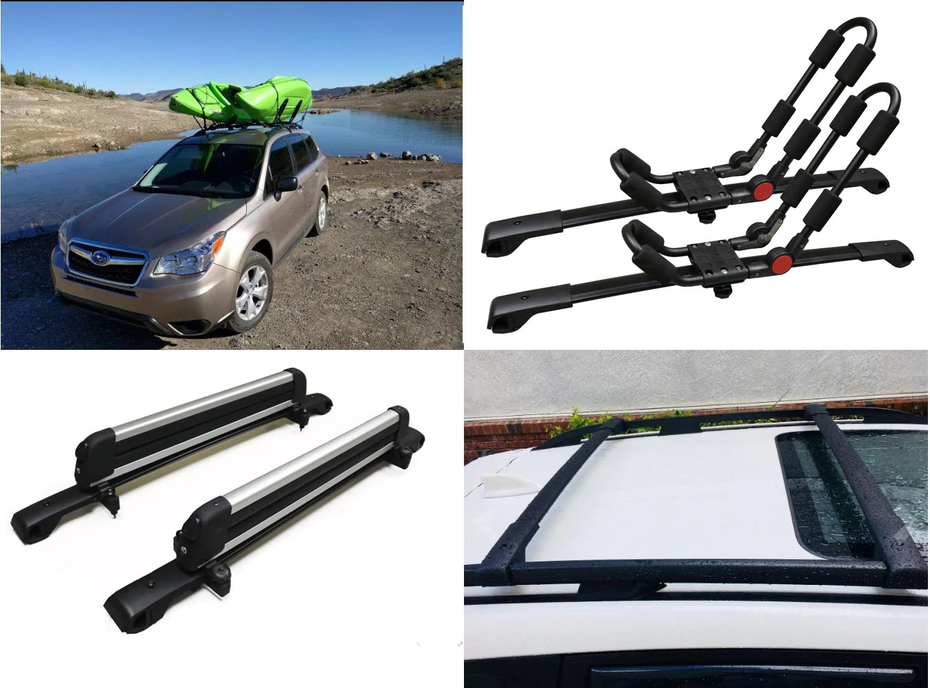 roof rack for subaru forester cross bars 2014 2018 pair aluminum oe style auto parts accessories car truck parts