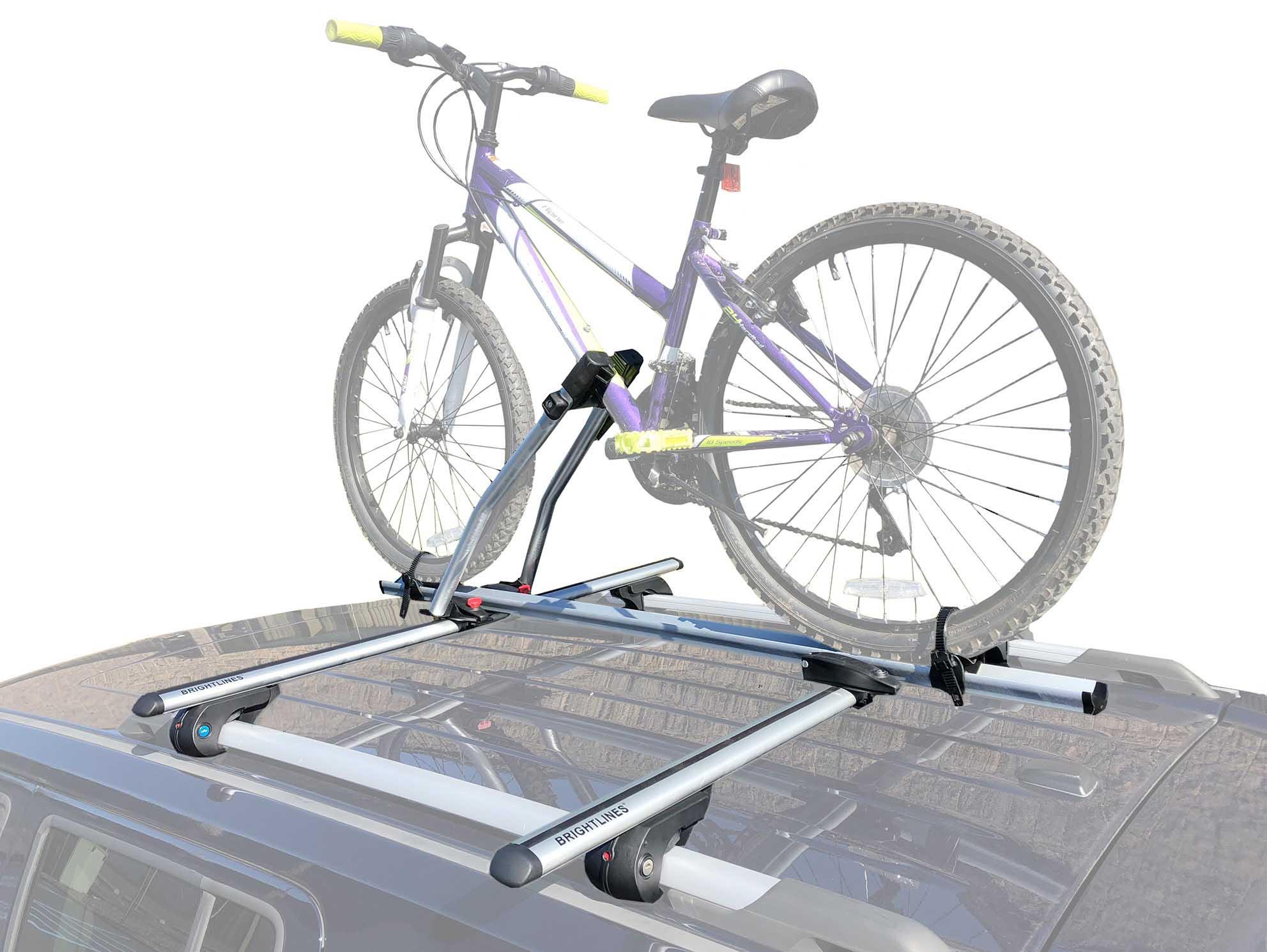brightlines cadillac srx roof racks cross bars bike rack combo 2004 2015 [ 1983 x 1491 Pixel ]