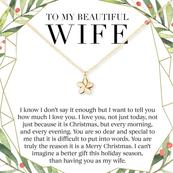 Christmas Gift For Wife Present Necklace Jewelry Xmas
