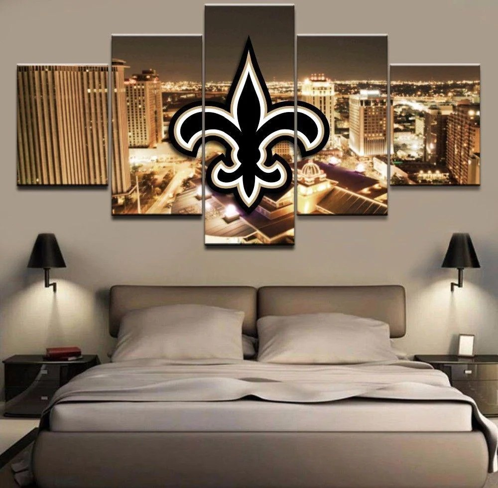 New Orleans Saints Wall Art Cheap For Living Room Wall Decor Night Cit 4 Fan Shop