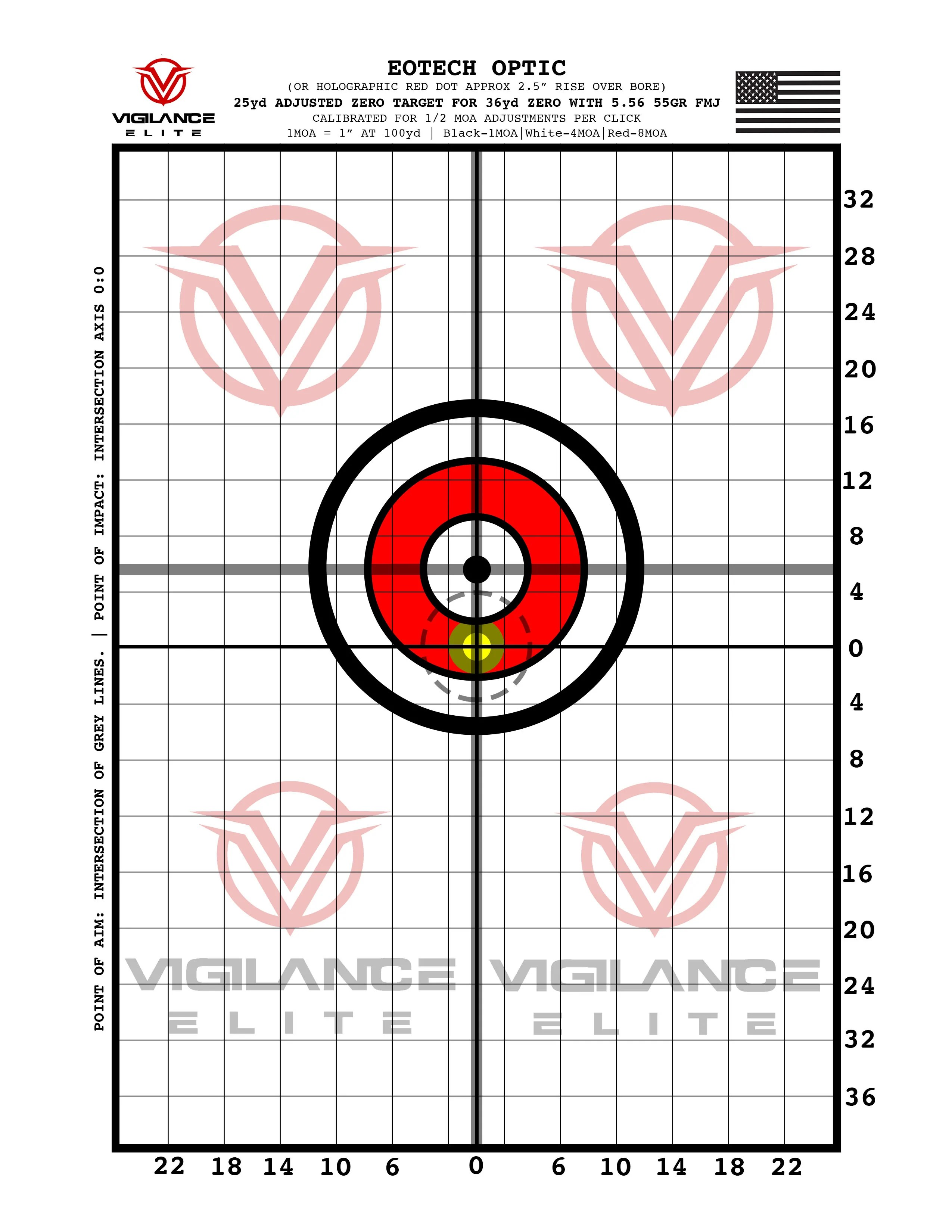 small resolution of printable 36yd zero target