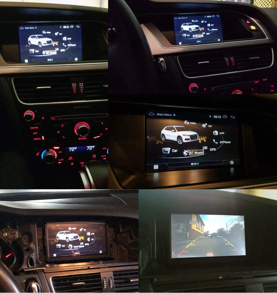 hight resolution of installation photo aftermarket navigation installed on audi q5