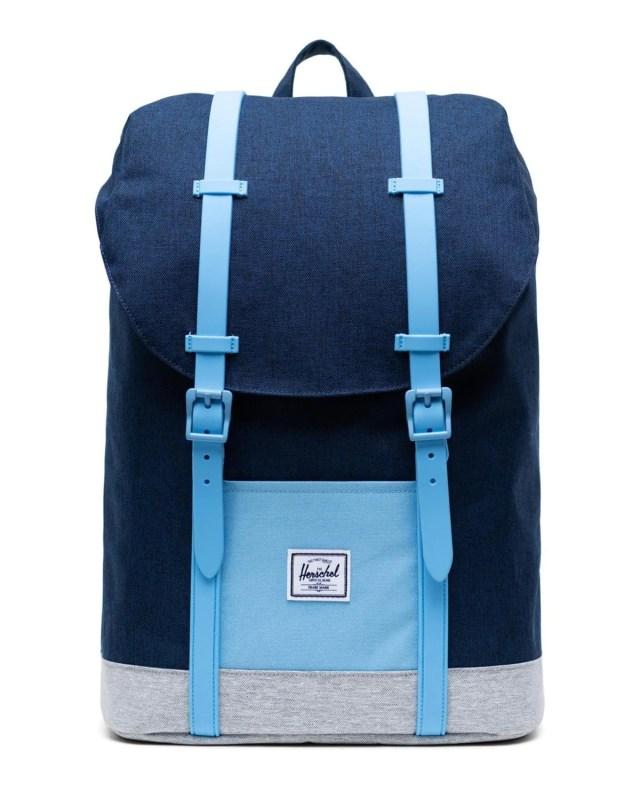 herschel supply co youth retreat backpack in medieval blue crosshatch -  Little