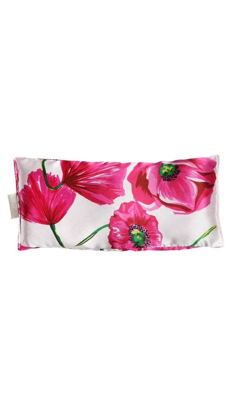 poppy silk eye pillow