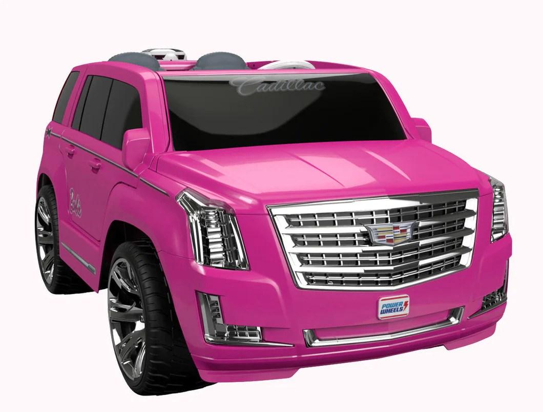 Power Wheels Barbie Cadillac Escalade 12 Volt Ride - Hot Pink