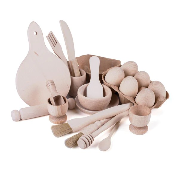 complete wooden kitchen play